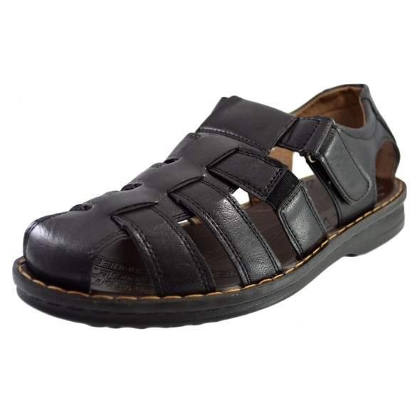 Sandale romane barbati, negru, model Gladiator
