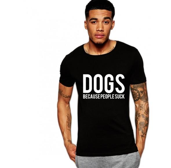 Tricou negru barbati - Dogs