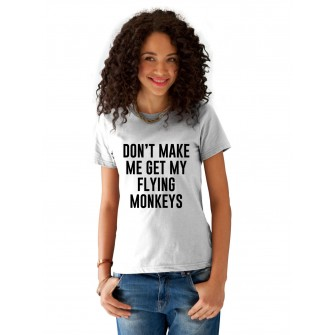 Tricou dama alb  - Flying Monkeys