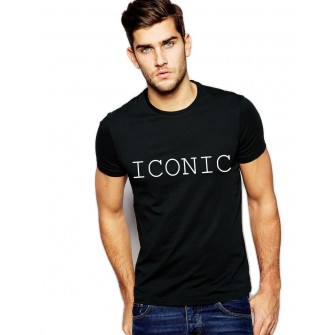 Tricou negru barbati - ICONIC