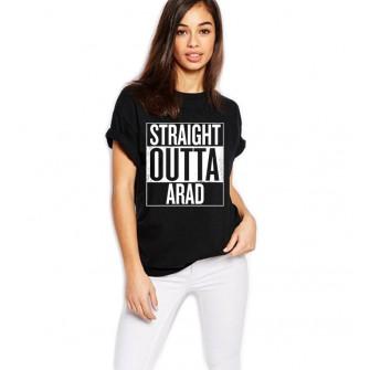 Tricou dama negru - Straight Outta Arad