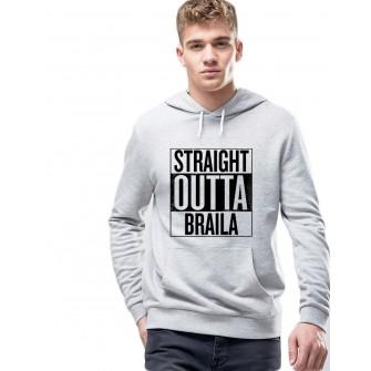 Hanorac Barbati Gri - Straight Outta Braila