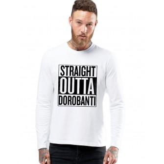Bluza barbati alba - Straight Outta Dorobanti