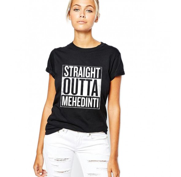 Tricou dama negru - Straight Outta Mehedinti