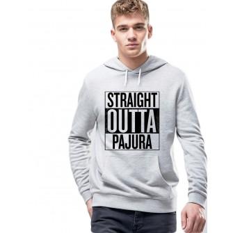 Hanorac Barbati Gri - Straight Outta Pajura