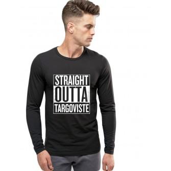 Bluza barbati neagra - Straight Outta Targoviste