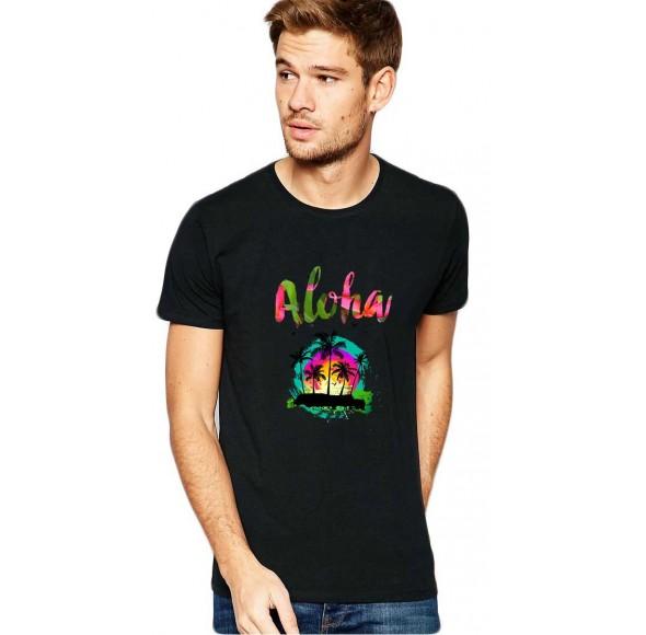 Tricou barbati negru - Aloha Exotic