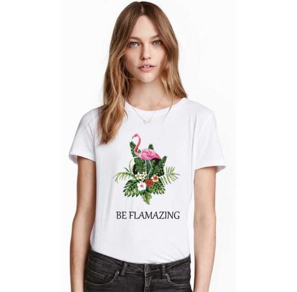Tricou dama alb - Be Flamazing
