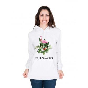 Hanorac dama alb - Be Flamazing