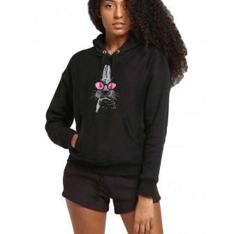 Hanorac dama negru - Bunny Fashion