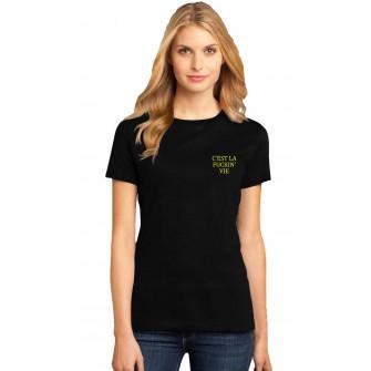 Tricou dama negru - C'est la vie
