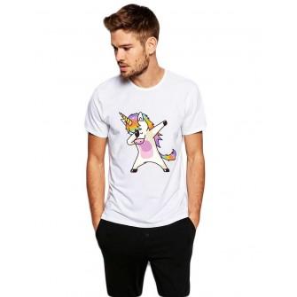 Tricou barbati alb - Cool Unicorn