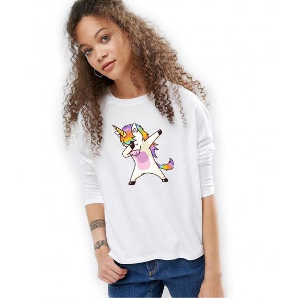 Bluza dama alba Cool Unicorn