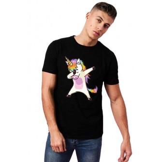 Tricou barbati negru - Cool Unicorn