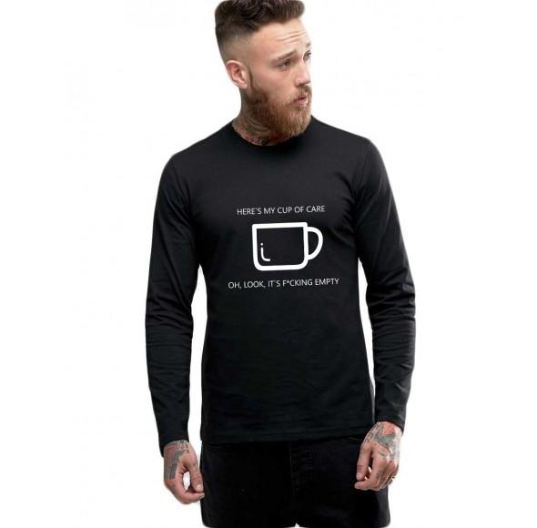 Bluza barbati neagra - Cup of care