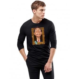 Bluza barbati neagra - Dali - Frame