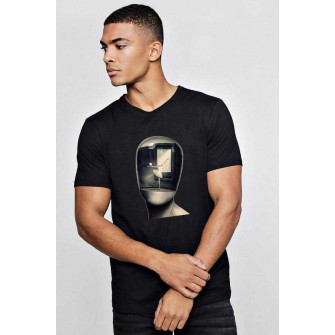 Tricou barbati negru - Dali - Globul