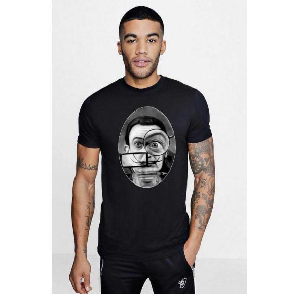 Tricou barbati negru - Dali - The Watcher