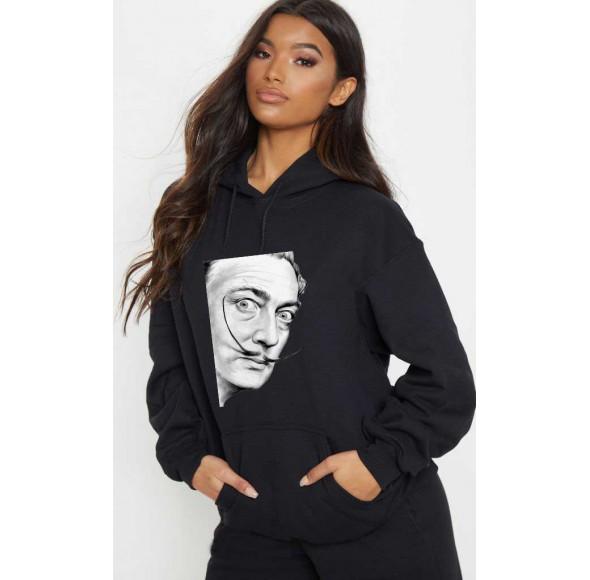 Hanorac dama negru - Dali - Portret
