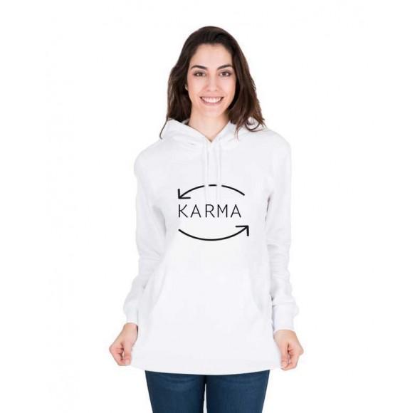 Hanorac dama alb - Karma