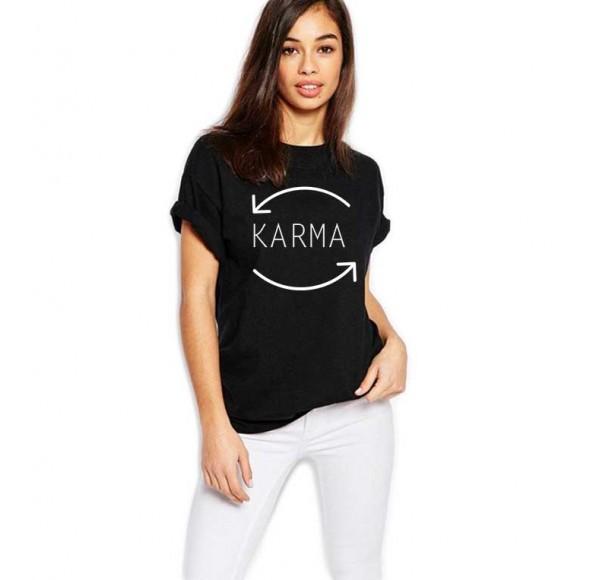 Tricou dama negru - Karma