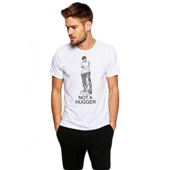 Tricou barbati alb - Not a hugger