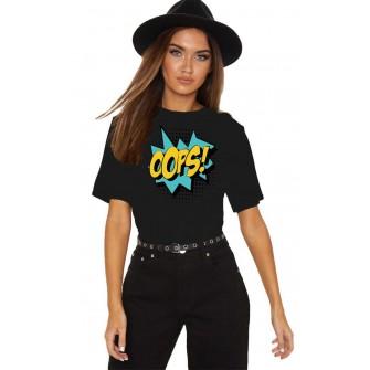Tricou dama negru - Oops