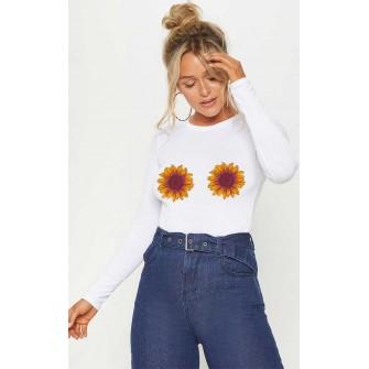 Bluza dama alba - Sunflower
