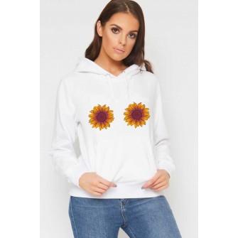 Hanorac dama alb - Sunflower