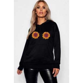 Hanorac dama negru - Sunflower