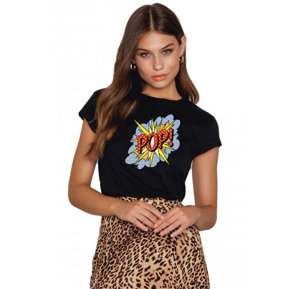 Tricou dama negru - POP