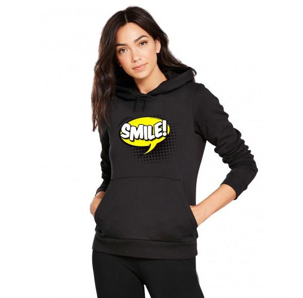 Hanorac dama negru - Smile
