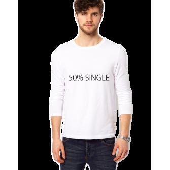 Bluza alba, barbati, 50% Single