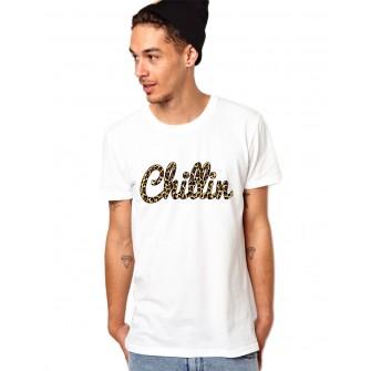 Tricou barbati alb Chillin