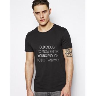 Tricou Old Enough - Negru