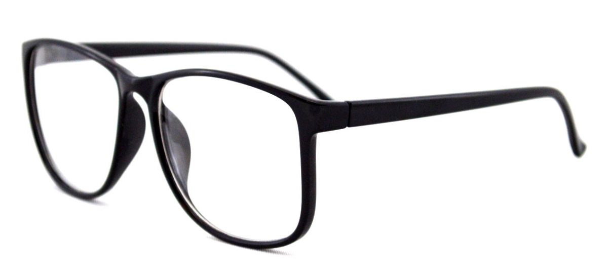 Ochelari cu lentile transparente Justin - Negru