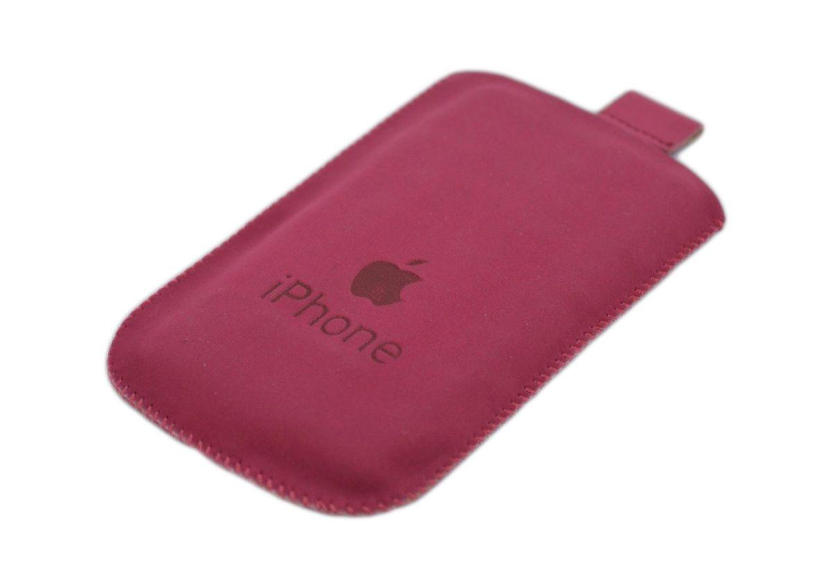 Husa din piele pentru iPhone3/3G/3GS/4/4S Rosu-Caramiziu