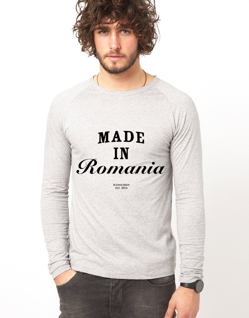 Bluza gri, barbati, Made in Romania